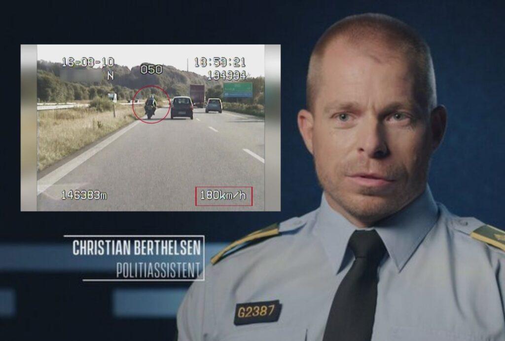 Fanget på politiets kamera